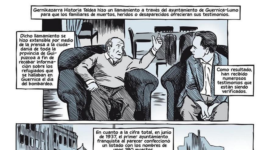 Viñetas para no olvidar el terror de Guernica