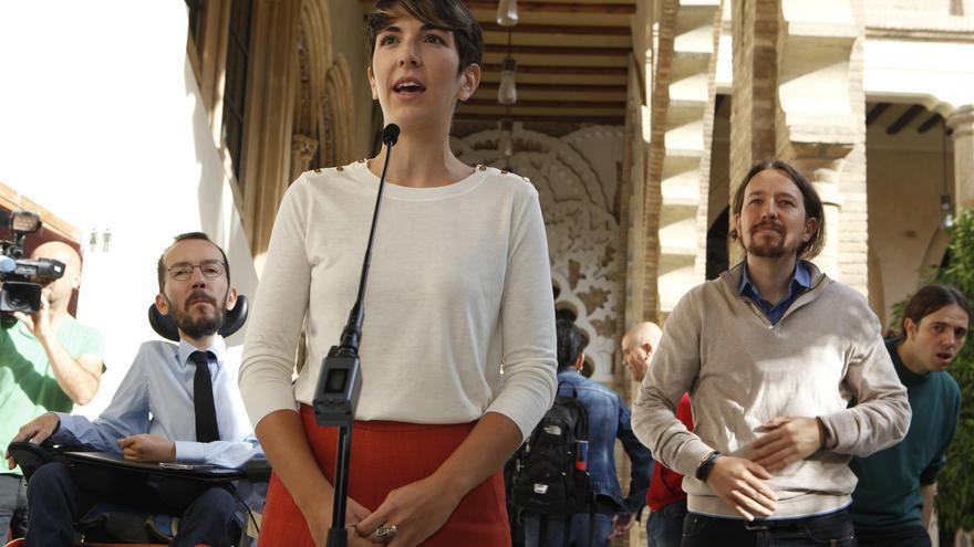 La nueva presidenta de las Cortes de Aragón, Violeta Barba.
