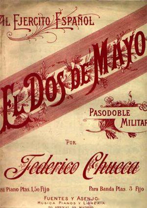 """Libreto del pasodoble de Federico Chueca """"El Dos de Mayo"""""""