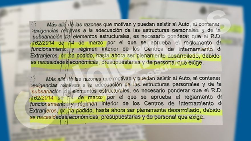 Documento interior admite que incumple la normativa en for Que es el ministerio del interior