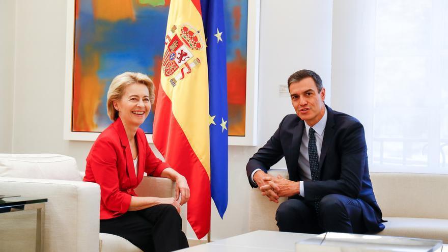 """Von der Leyen se reúne en Madrid con Sánchez y Borrell: """"Los proeuropeos tenemos que actuar juntos"""""""