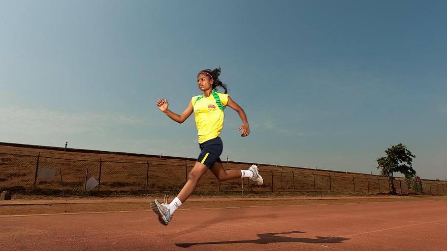 Parvati corrió y ganó su primera carrera a los nueve años de edad. / Fotografía: Magic Bus