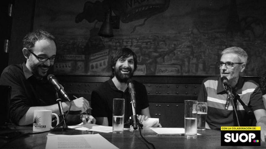 Mikel López Iturriaga, 'El Comidista' (derecha), estuvo una pizca en 'Lo de las noticias'
