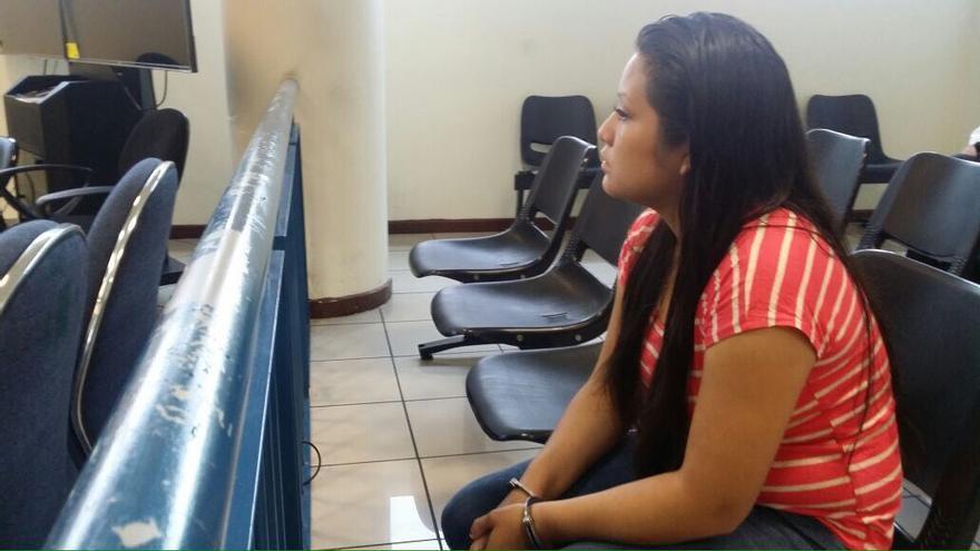 Evelyn Hernández, durante el juicio. Foto: Las 17