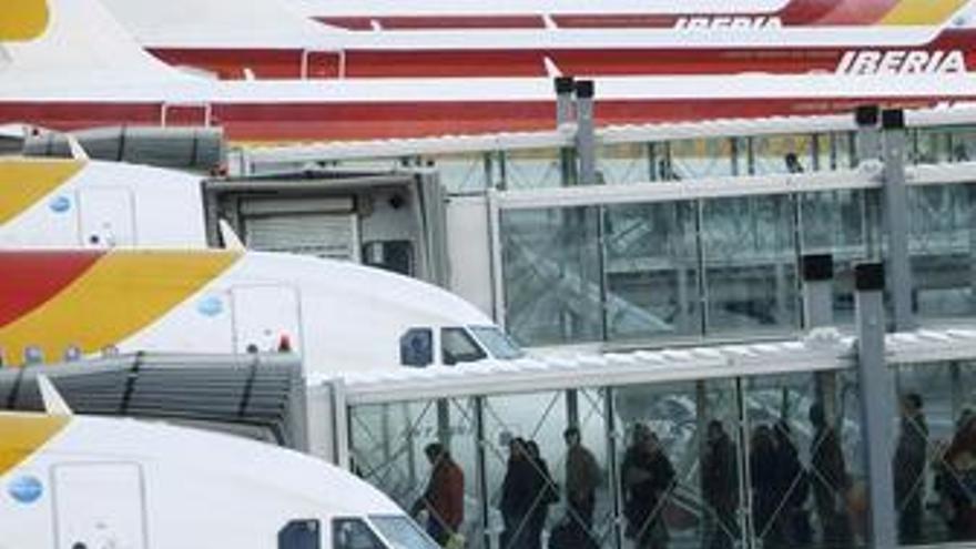 Iberia registra pérdidas de 182 millones hasta septiembre