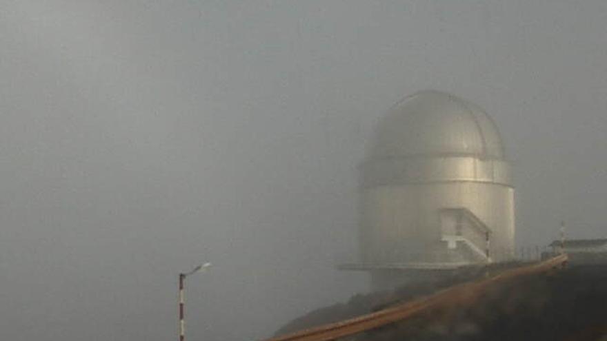 En la imagen, el Telescopio Óptico Nórdico (NOT), este sábado. Foto capada de la web del NOT.