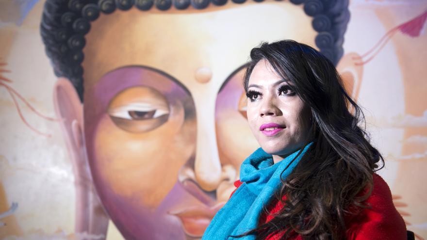 Meghna Lama, en su restaurante, Pink Tiffany.