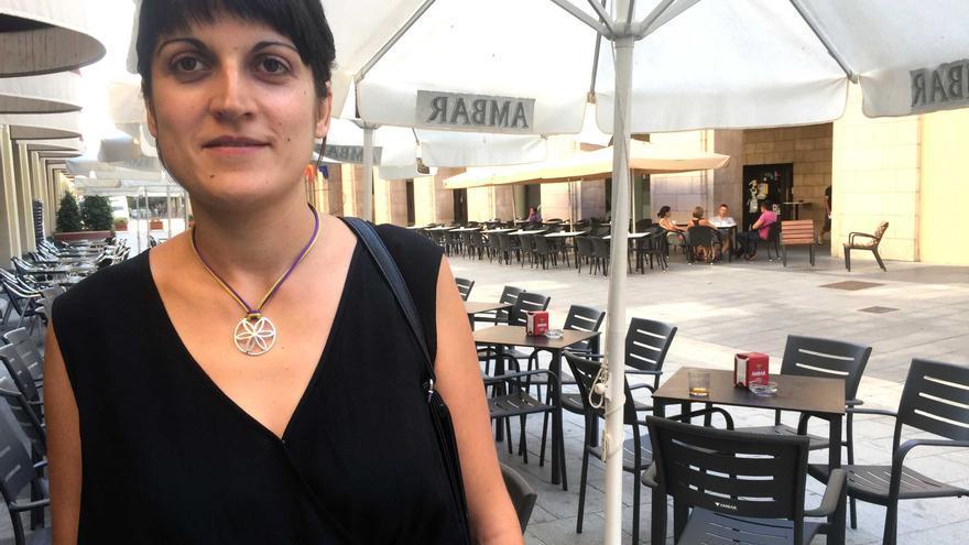 Marie Calvo, candidata en las primarias de Podemos a la presidencia del Gobierno.