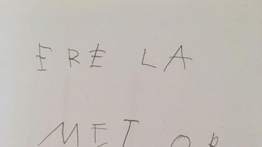 Nota de Gonzalo a Felisa.