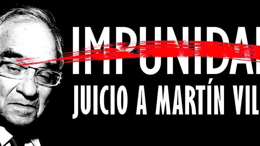 Imagen de la campaña 'Juicio a Martín Villa'.