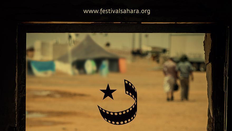 El Cartel de la primera edición del Festival Internacional de Cine del Sáhara en la Cineteca de Madrid.