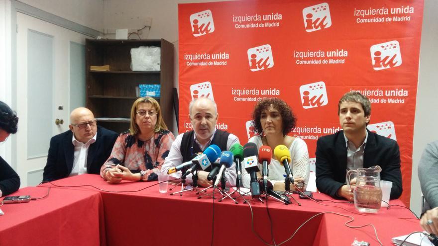 La dirección colegiada de Izquierda Unida-Comunidad de Madrid. / Aitor Riveiro