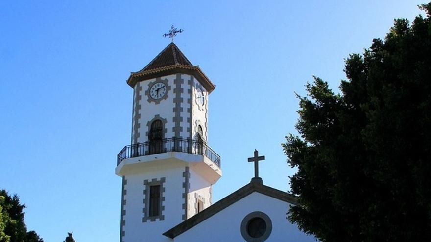 Iglesia de San Pío X, en Todoque. Foto: palmerosenelmundo.com