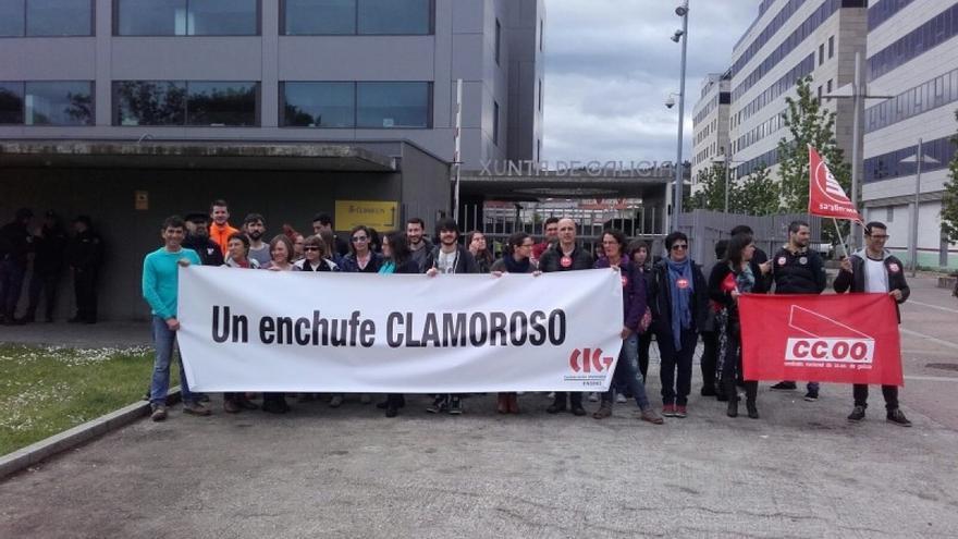 Protesta contra el caso de nepotismo con la cuñada de laa secretaria de Igualdad de la Xunta