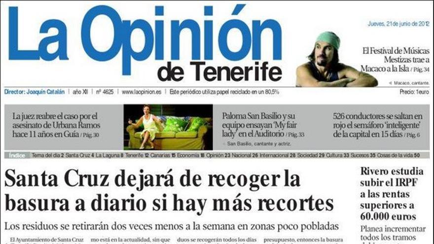 De las portadas del día (21/06/2012) #5
