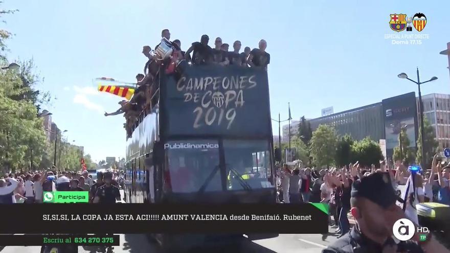 La celebración de la Copa del Valencia C.F. retransmitida por À Punt