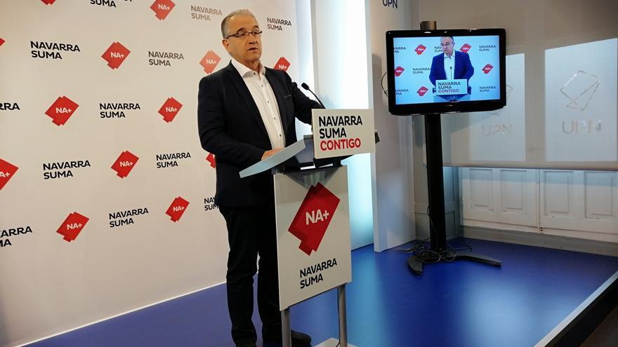Maya (Navarra Suma) pide a Esporrín (PSN) que no opte a la alcaldía de Pamplona para evitar el apoyo de EH Bildu
