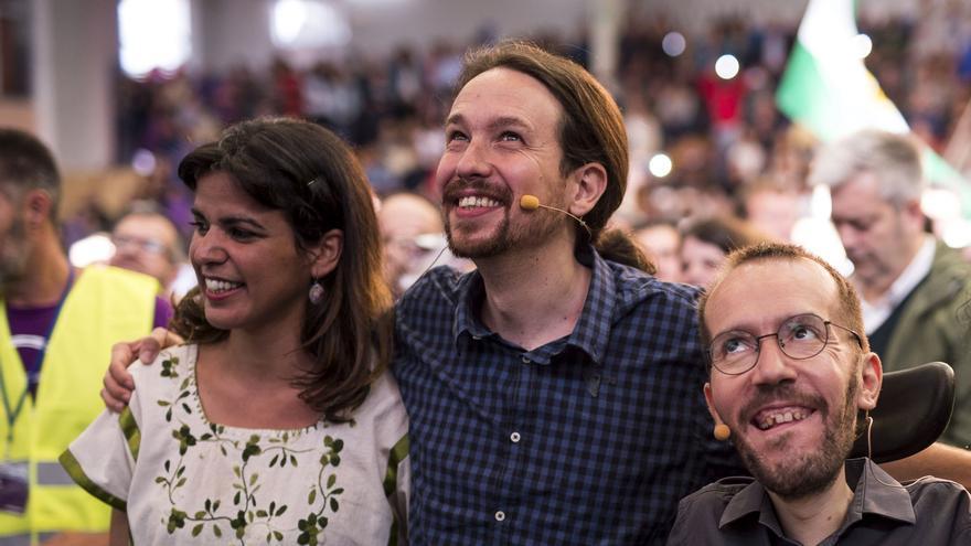 Pablo Iglesias, Teresa Rodríguez y Pablo Echenique, en una imagen de 2016.