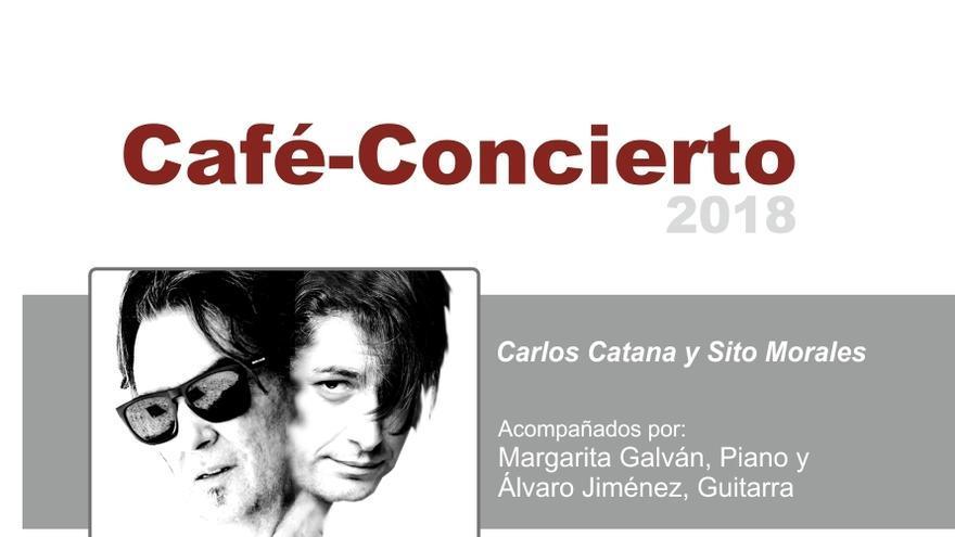 Cartel de la actuación de Carlos Catana y Cito Morales.