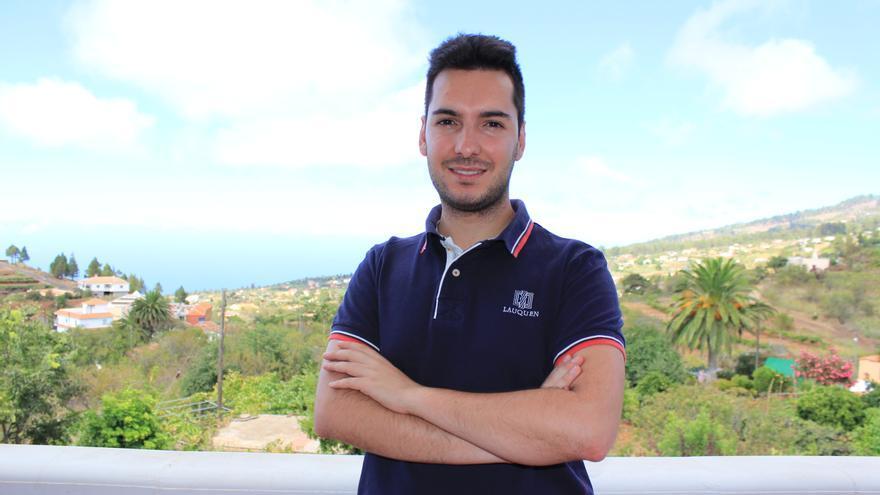 Juan Gabriel Pérez quiere mejorar la calidad de vida de los jóvenes palmeros.