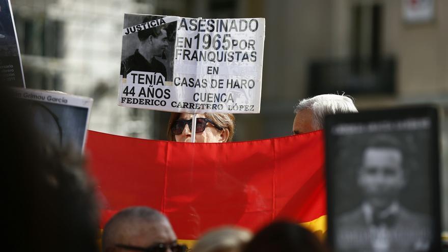 Manifestación de víctimas del Franquismo