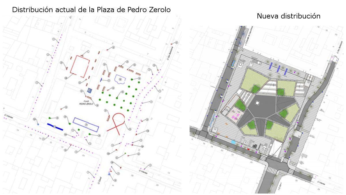 Distribución actual y futura de la Plaza de Pedro Zerolo | AYUNTAMIENTO DE MADRID
