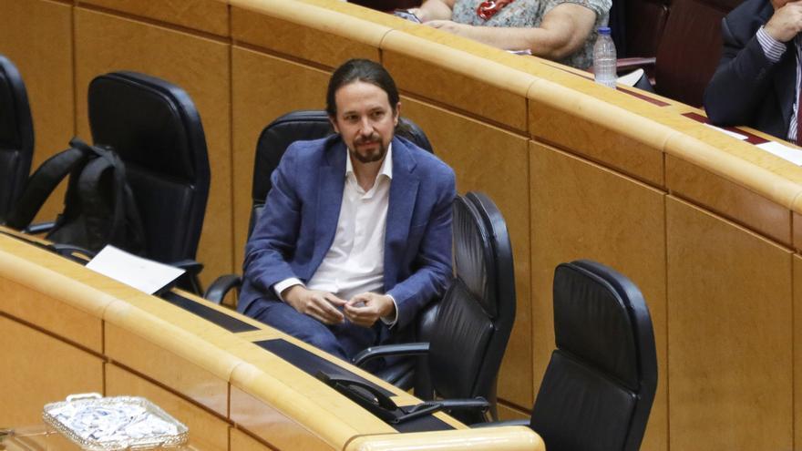 """Iglesias asegura que no es """"viable"""" llegar a un acuerdo con Cs para los PGE y apuesta por un pacto con ERC, PNV y Bildu"""