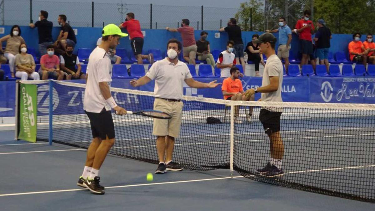 Imagen de un partido del Open Ciudad de Pozoblanco.