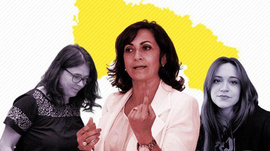 Concha Andreu, en el centro, con Raquel Romero y Nazareth Martín