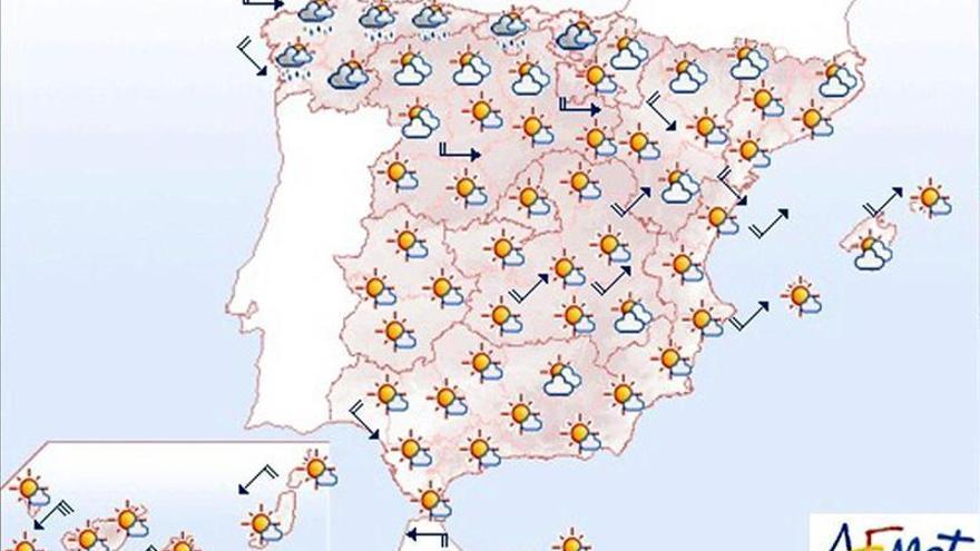 Hoy, descenso notable de las temperaturas en norte y oeste peninsular