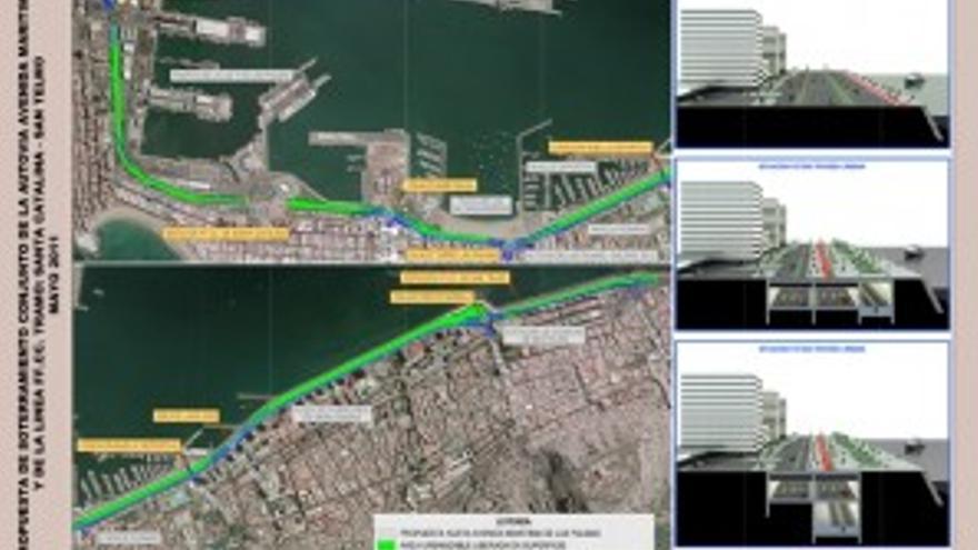 Proyecto de NC para la Avenida Marítima. (ACN PRESS)