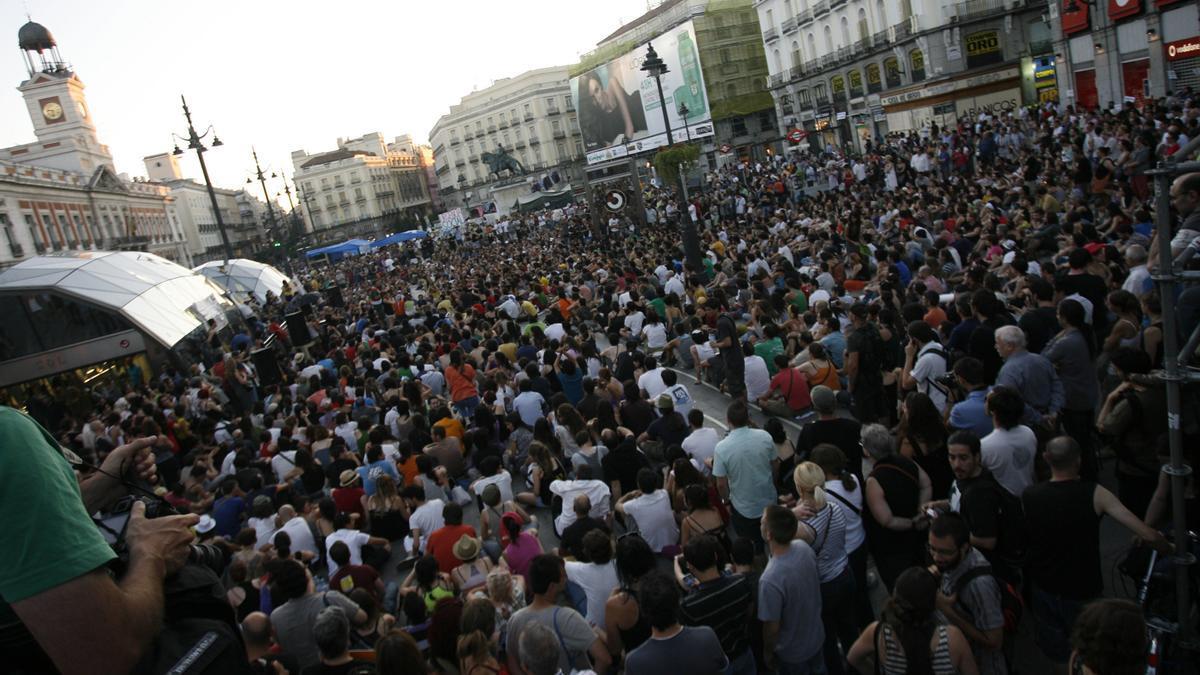 Manifestantes del Movimiento 15M
