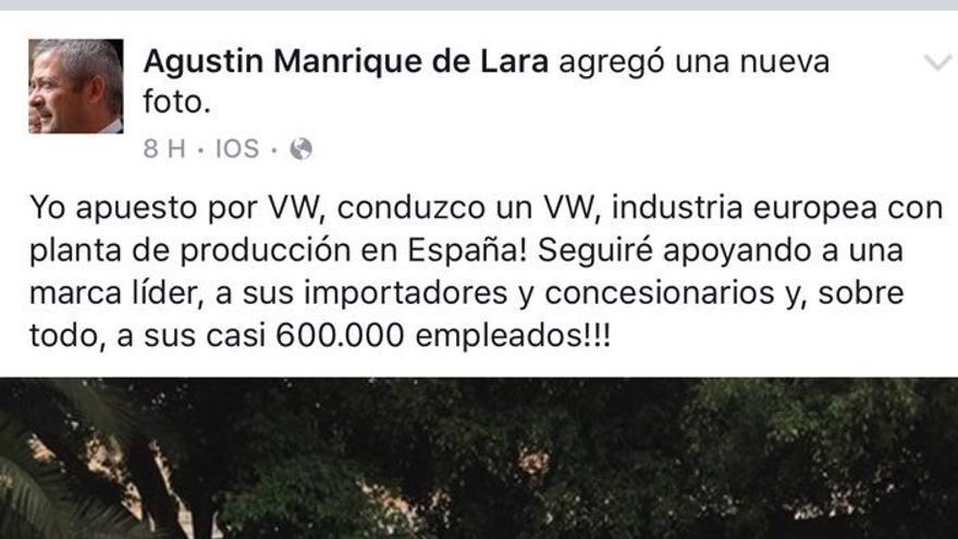 Comentario del presidente de la patronal canaria, Agustín Manrique de Lara.