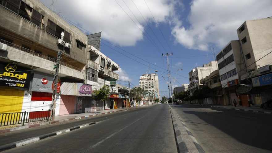 Una de las calles más transitadas de Gaza vacía/Oxfam