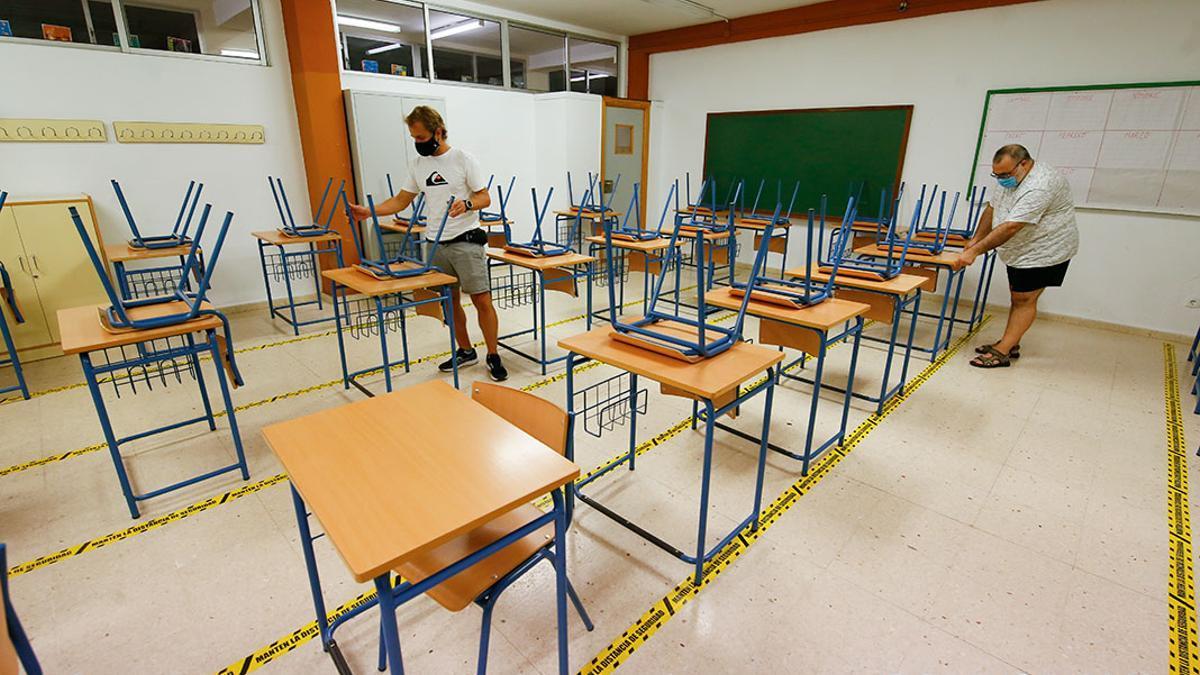 Un aula de un instituto de Córdoba.