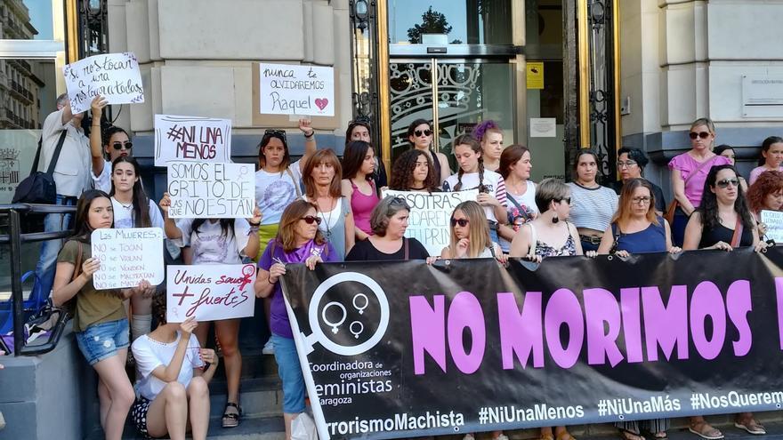 Protesta en Zaragoza tras el último caso de violencia machista