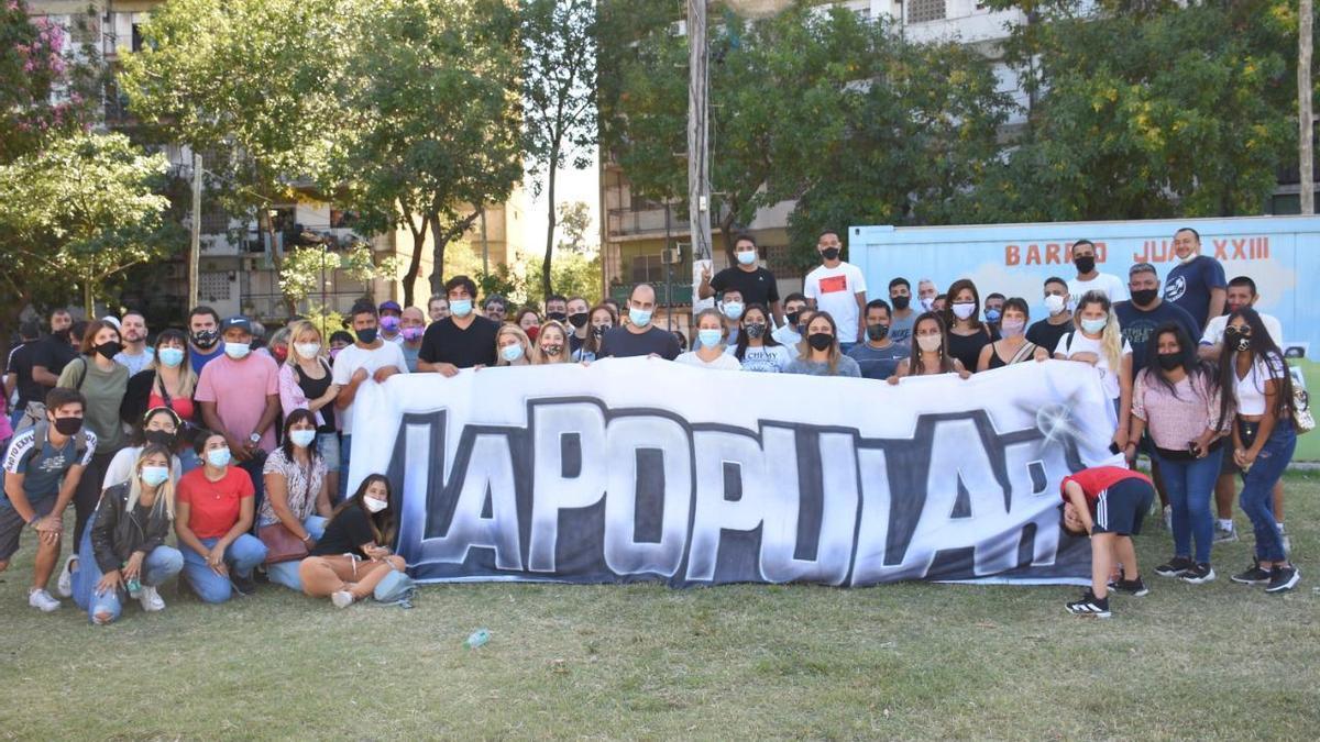 La Popular, durante el acto por el Día de la memoria en el barrio Juan XXIII