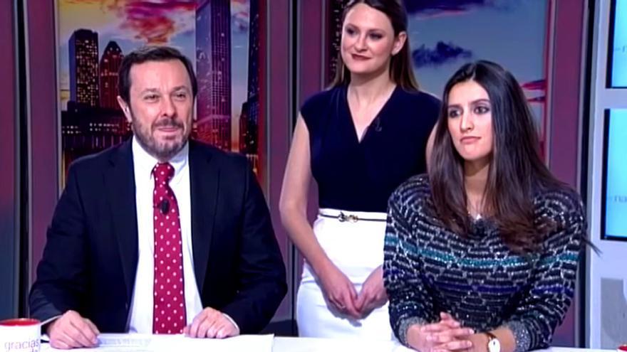 """Un programa de Intereconomía habla en femenino de Jorge Javier para mofarse de él: """"Magnífica presentadora con clase"""""""