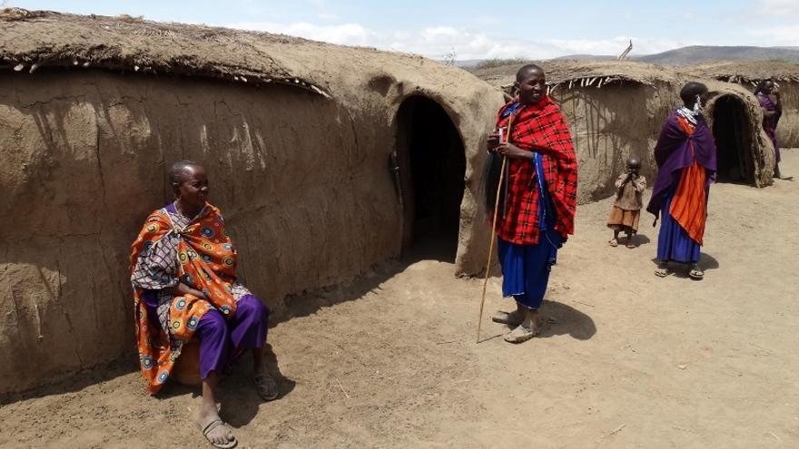 Una aldea masai / Foto: 'udare.es'.