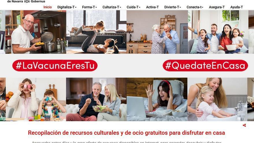 El Gobierno de Navarra presenta una web con recursos culturales, formativos y ocio para el confinamiento