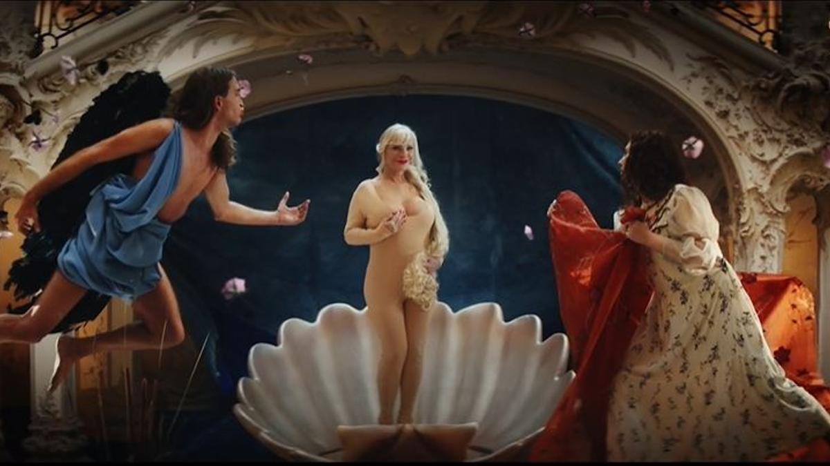 Fotograma de la campaña de publicidad Classic Nudes, en la que Pornhub anima a su público a acudir a los museos en busca de pornografía
