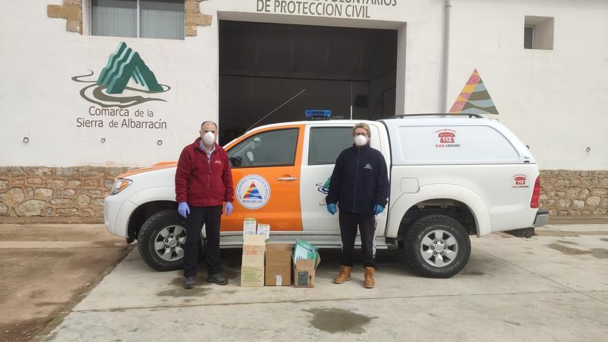 Material donado por la empresa Quesos Sierra de Albarracín a Protección Civil de la Sierra de Albarracín / Quesos Sierra de Albarracín