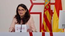 Mónica Oltra, vicepresidenta de la Generalitat, durante la rueda de prensa posterior al pleno del Consell.