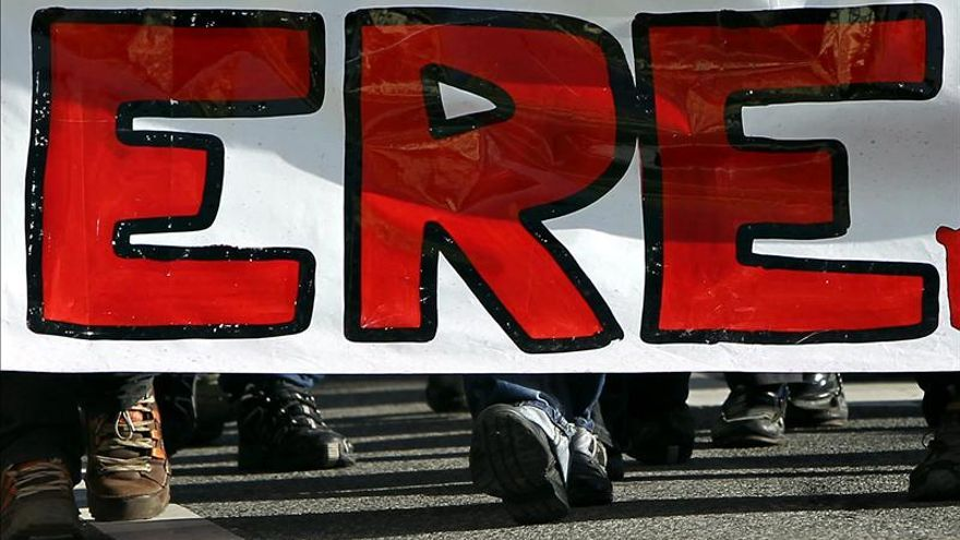 Los ERE crecieron un 56,3 por ciento en 2012 y un 31,51 por ciento los trabajadores afectados