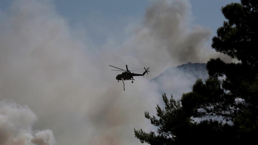 Incendio en Grecia.