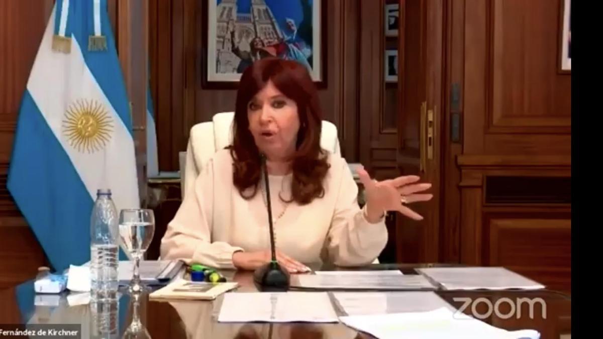Cristina Fernández, el 3 de marzo pasado, en su duro alegato ante Casación. Sobreseída por el dólar futuro.
