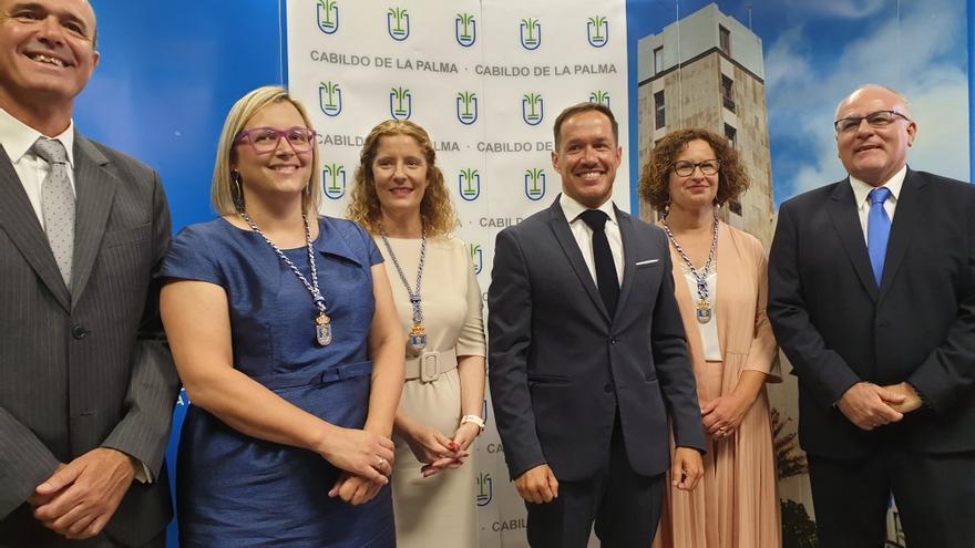 En la imagen, el nuevo grupo del PP en el Cabildo.