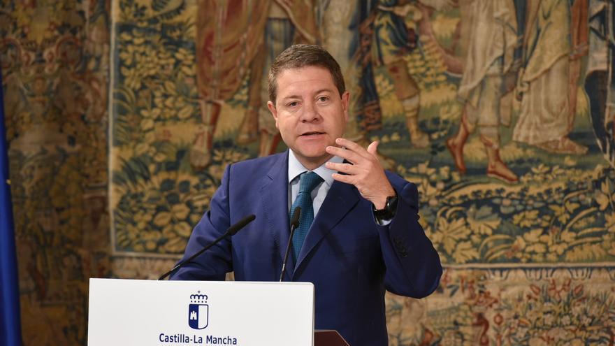 Emiliano García-Page en comparecencia el 21 de septiembre