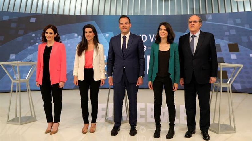 """El debate entre candidatos a la Comunidad de Madrid ratifica el """"bibloquismo"""""""