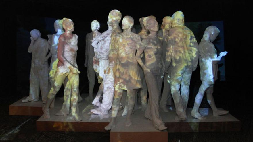 Esculturas del futuro museo submarino expuestas en el Castillo de San José (DIARIO DE LANZAROTE)